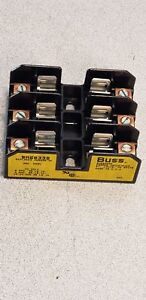 Box Of 6 Bussmann Cooper Bm6033b 3 Pole 600 Vac vdc Screw Mount Fuse Blocks