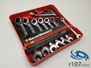 Genuine Gearwrench Reversible Ratchet Spanners Af Imperial 5 16 3 4 Wrench Set