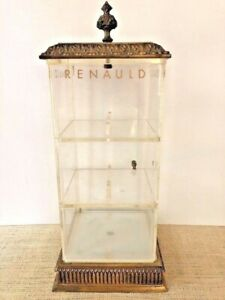 Renauld France Vintage Sunglass Display Case Brass Acrylic Retail Counter