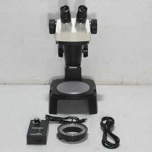 Bausch Lomb 0 7x 3 0x Sz4 Stereo Zoom 4 Microscope W 10x Eyepieces Light