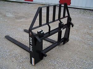 New Dirt Dog Mfg Pallet Forks With Euro Style Quick Attach Can Ship Cheap