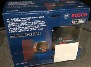 Bosch gcl 2 160 S Self leveling Cross line Laser With Plum Points 65ft 20m