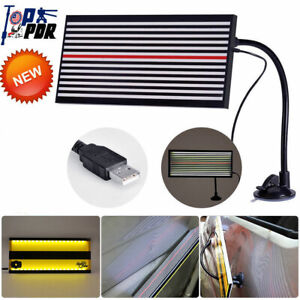 Us Led Line Board Light Lamp Car Body Paintless Pit Dent Testing Repair Pdr Kits