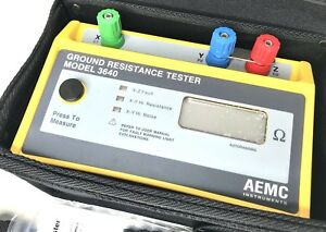 Aemc 3640 3 point Digital Ground Resistance Tester 2000 Ohms Resistance 10ma