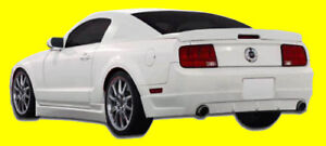 Fits 2005 2014 Ford Mustang Racer 2 Side Skirts 2 Piece Body Kit