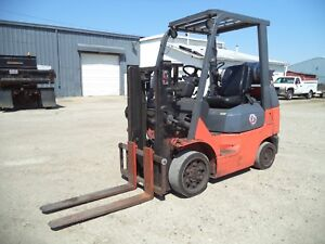 2005 07 Toyota 7fgcu25 5 000 5000 Cushion Tired Forklift Trucker Special