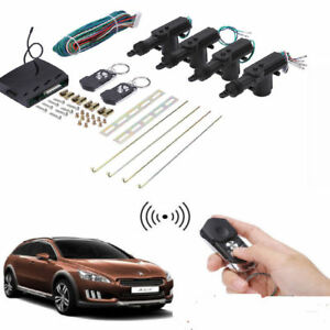 4 Door Power Central Lock Kit Car Remote Control Conversion Entry For Toyota Rav