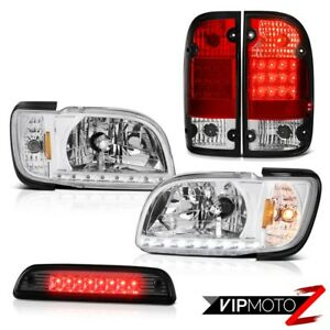 01 04 Toyota Tacoma S Runner Roof Brake Light Red Rear Lamps Headlights Bumper
