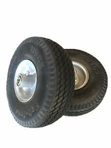 2 New 10 Flat Free Hand Truck Dolly Tires 5 8 Id Bearings