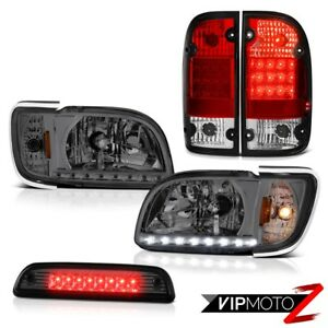 01 04 Toyota Tacoma 4x4 Smoked Third Brake Lamp Red Tail Lamps Headlamps Bumper