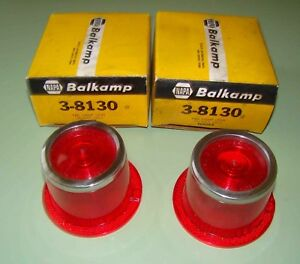 1962 Plymouth Valiant Tail Lenses Nors Glo brite In Original Boxes part 640