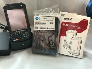 Symbol Motorola Mc50 Barcode Scanner Pocket Pc W Battery Charging Cradle