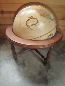 Replogle Globe 12 World Classic With Wooden Stand Beautiful Condition