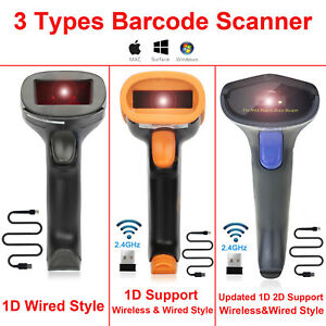 Premium Usb Wired wireless Barcode Scanner Automatic 1d 2d Qr Reader ca