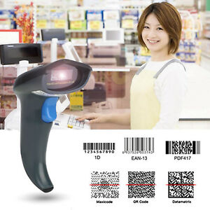 Smart Cordless Laser Barcode Scanner Usb Bar Code Pos Handheld us