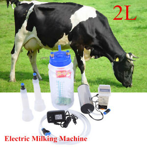 2l Electric Barrel Milking Machine Portable Vacuum Pump For Cow Goat Milker Tank