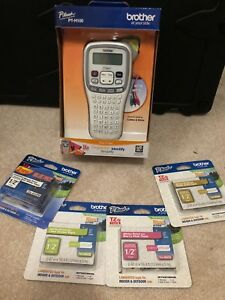 Brother Pt h100 Label Maker Bundle W 5 Tze Label Tape Cartridges