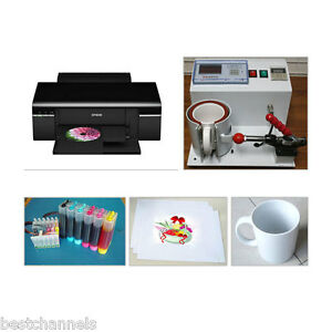 Mug Cup Heat Press Kit Sublimation Machine Epson Printer Transfer Paper Package