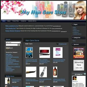 Hair Care Store Online Business Affiliate Website For Sale Free Domain