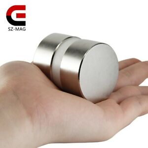 2pcs Super Powerful Dia 40mm X 20mm Neodymium Magnet 40x20 Disc Magnet Rare N52