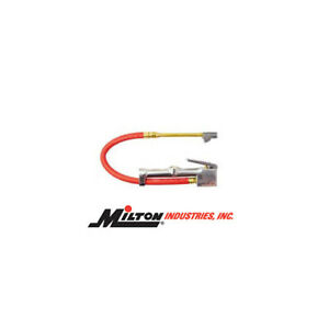Milton Dual Head Straight Inflator With Lock On Threads Made In The Usa
