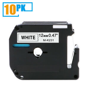M k231 Mk 231 Compatible For Brother P touch Pt 65 Label Tape Ribbon 12 Mm 10pk