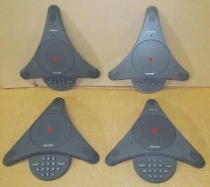 4 Polycom Soundstation 2201 03309 001 G Analog Conference Phone W Power Cord