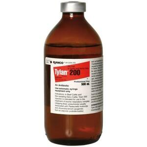 Tylan 200 500ml Injectable Antibiotic For Beef Cattle Dairy Cattle Swine Elanco