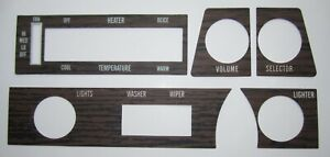 1970 1972 Buick Skylark Gs Gsx Walnut Woodgrain Dash Applique Cars W O Ac