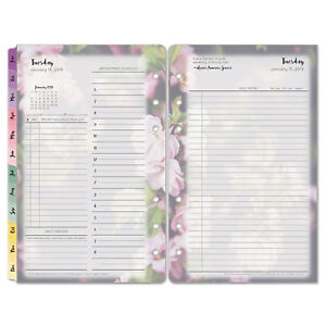 Franklin Covey Blooms Dated Daily Planner Refill January december 4 3 4 X 6 3 4