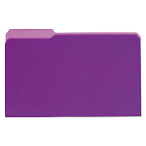 Universal Recycled Interior File Folders 1 3 Cut Top Tab Legal Violet 100 box