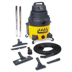 Shop vac Industrial Wet dry Vacuum 12gal 2 5hp Yellow black 9622110