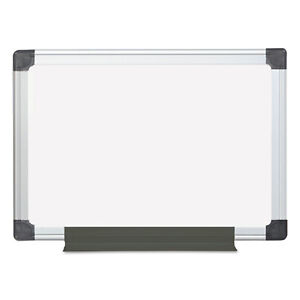 Mastervision Value Lacquered Steel Magnetic Dry Erase Board 17 3 4 X 23 5 8