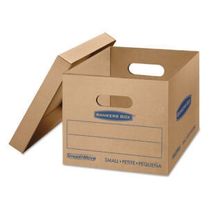 Bankers Box Smoothmove Classic Small Moving Boxes 15l X 12w X 10h Kraft blue 15
