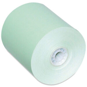 Pm Company Direct Thermal Printing Thermal Paper Rolls 3 1 8 X 230 Ft Green 50