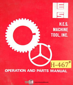 Hes 24nca Lathe Install Instructions Maintenance Wiring And Parts Manual