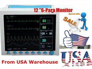 Big Sale Contec 12 1 Multi Parameter Patient Monitor Spo2 Pr Ecg Nibp Resp Temp