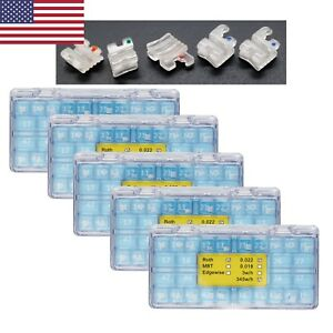 5 Boxes Dental Orthodontic Clear Ceramic Bracket Mini Roth 022 345w h 5 5 Elegan