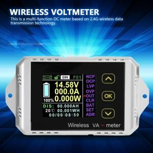 Wireless Dc 0 400v 0 300a Lcd Digital Combo Panel Volt Amp Power Watt Meter