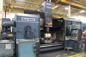 Berthiez Tvm 125 Cnc Vertical Boring Mill With Live Milling Fanuc 15 New 97