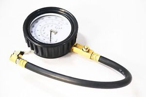 Analog Tire Gauge With Hose 220psi Tire Pressure Gauge With Clip Chuck Tire Tool