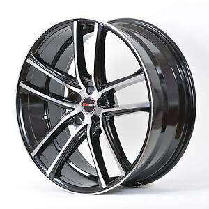 4 G38 Zero 18 Inch Black Machined Rims Fits Et40 Acura Integra Type R