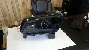 2010 2011 2012 Ford Mustang Ccfl Halo Projector Headlights Black Housing fits