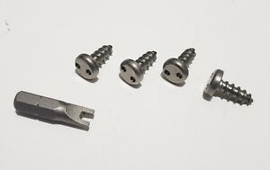 Front Bmw Security Anti Theft Auto License Plate Screws Stainless Steel Bolts S