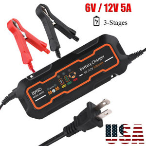 6v 12v 5a Smart Car Battery Charger And Maintainer Desulfator Waterproof 5000ma