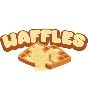 Waffles 48 Concession Decal Sign Cart Trailer Stand Sticker Equipment