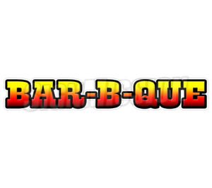 48 Bar b que Concession Decal Bbq Barbeque Sign Smoker Cart Trailer Stand