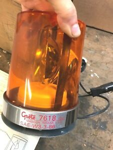Vintage Grote Model 76183 Amber Beacon Dual Emergency Light tested