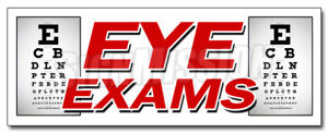 48 Eye Exams Decal Sticker Optometrist Optician Glasses Prescription Lens