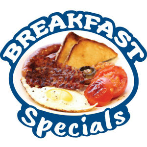 Breakfast Specials 36 Concession Decal Sign Cart Trailer Stand Sticker